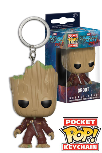 Keychain NEW Funko 2 Groot Ravager Pocket Pop Guardians of the Galaxy: Vol