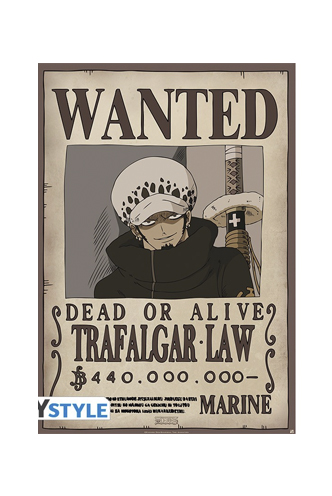 One Piece - Poster Wanted Law  43dc806d0f0