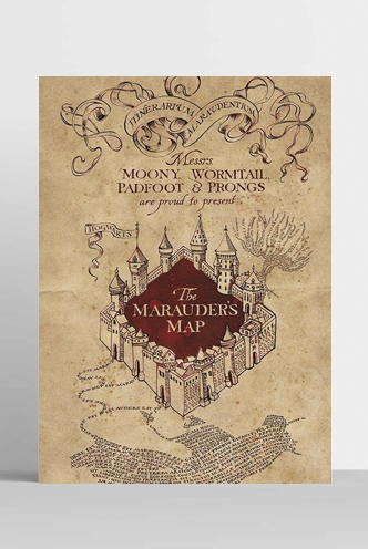 Poster Harry Potter - The Marauders Map   Funko Universe, Planet of ...