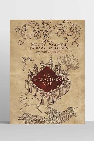 Mapa Del Merodeador Comprar.Poster Harry Potter Mapa Del Merodeador Universo Funko