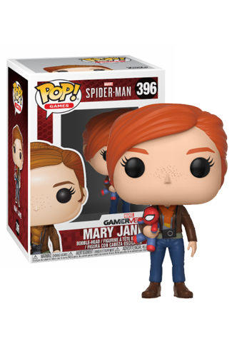 SPIDER-MAN FUNKO POP MARY JANE W// PLUSH 396 30682 VINYL FIGURE GAMES MARVEL