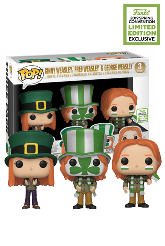 Funko Pop Harry Potter Ginny Fred and George Weasley 3 Pack