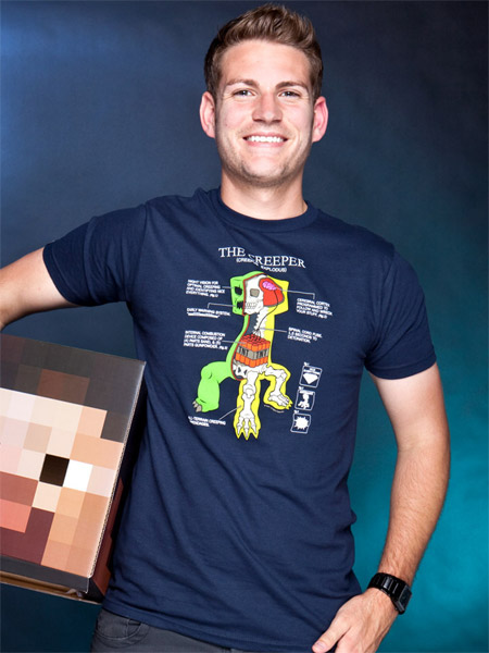Minecraft Camiseta Creeper Anatomia | Universo Funko, Planeta de ...