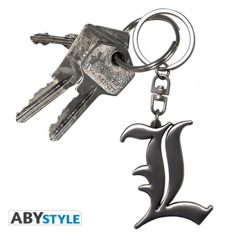 death note keychain 3d l symbol funko universe planet of