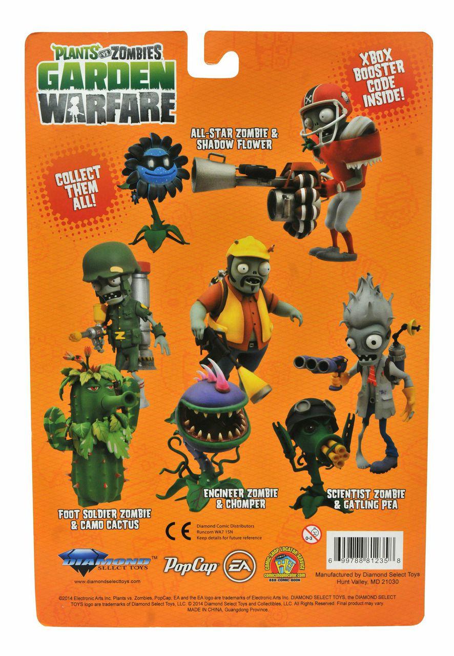 Plants Vs Zombies Garden Warfare Engineer Zombie Vs Chomper Action Figure 2 Pack Funko