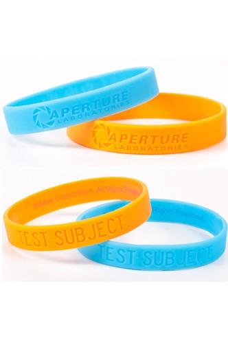 1fae53fe4949 Portal 2 Pulsera Silicona - Aperture Laboratories (Naranja Azul ...