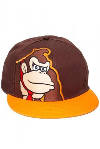 Nintendo Donkey Kong Brown Flex Fit Hat / Cap ...