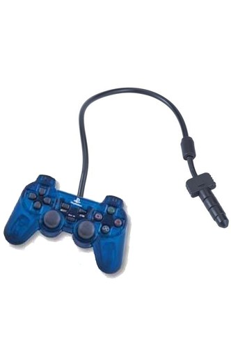 "Phone Jack - Controller PlayStation 20th anniversary ""Blue Skeleton"""