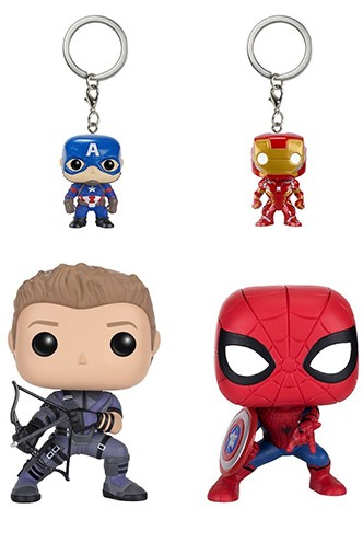 "Pop! Marvel: Capitán América 3 ""Civil War"" - 4-Pack"