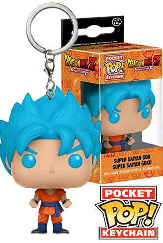 Pocket Pop! Keychain: Dragonball Z Resurrection F- Super Saiyan God Goku EX