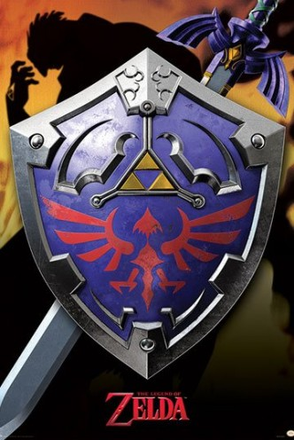 Legend of Zelda - Póster Metallic Hylian Shield