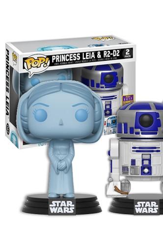 Figuren Exclusive Star Wars Hologramm Leia und R2-D2 Funko POP
