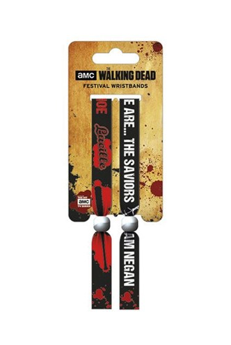 The Walking Dead - Pack de 2 Pulseras de festival The Saviors