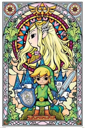 Legend of Zelda - Poster Stained Glass