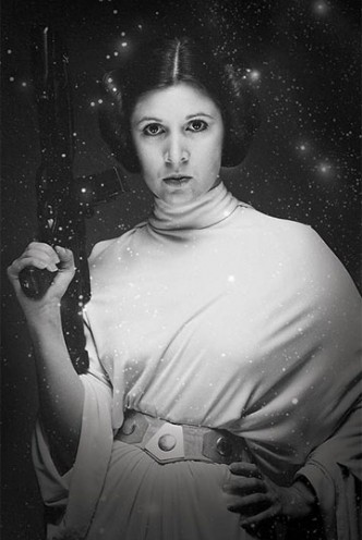 Star Wars - Poster Princess Leia Stars