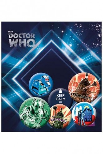 Doctor Who - Pack 6 Chapas Retro