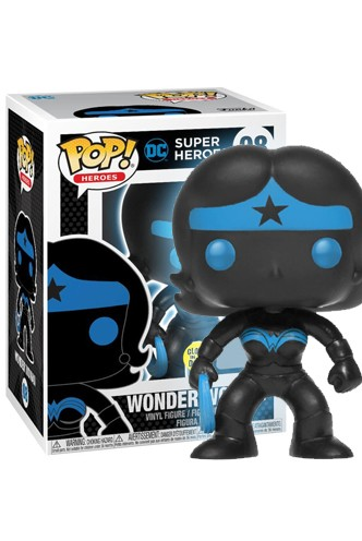 Pop! DC: Justice League - Wonder Woman Silhouette GITD Exclusivo