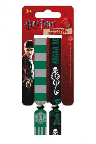 Harry Potter - Pack de 2 Pulseras de festival Slytherin