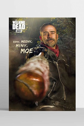 The Walking Dead - Póster Negan Eeny Meeny Miny Moe