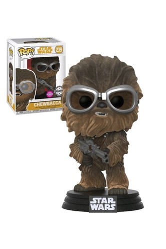 Pop! Star Wars: Solo - Chewbacca w/ Goggles Flocked Exclusivo