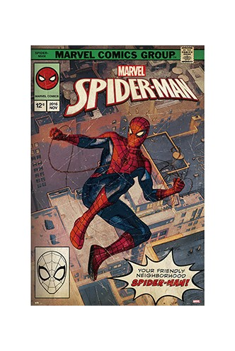 Poster Marvel Spiderman Comic Front