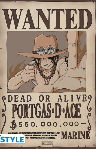 One Piece - Póster Wanted Ace