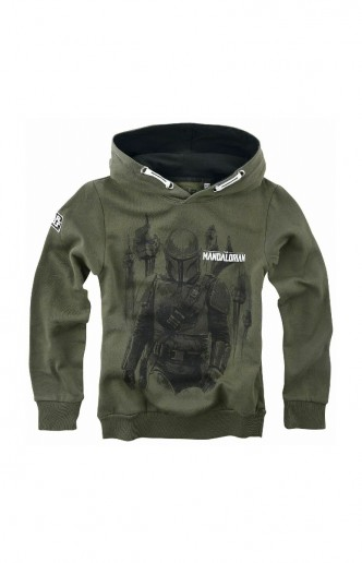 Star Wars - The Mandalorian Hunter Kids Hoodie