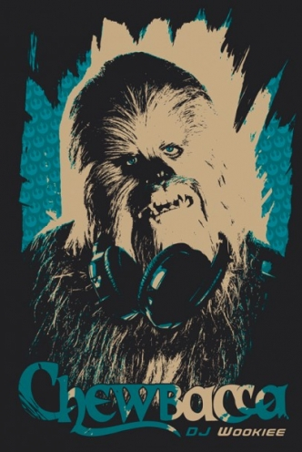 Star Wars T-Shirt Dj Wookie
