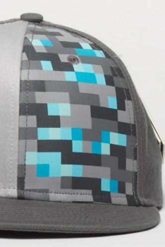 Minecraft Gorra plana diamantes  9b0afa586ec