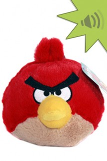 Angry Birds 4 inch Mini Plush With Sound - Red