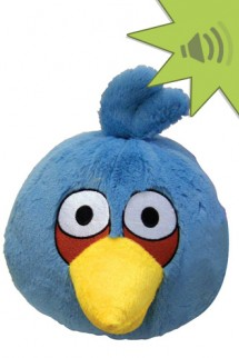 Angry Birds 4 inch Mini Plush With Sound - Blue