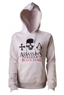 Assassin´s Creed IV Black Flag Ladies Hooded Sweater Skull Crest Logo