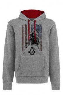 Assassins Creed III - Grey,flag,Hoodie - Connor