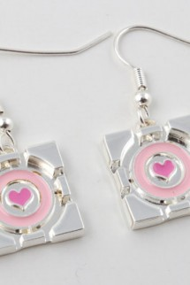Portal 2 Companion Cube Earrings