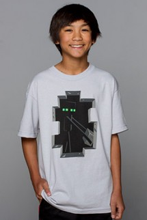 "Camiseta - MINECRAFT ""Enderman"" Blanca"
