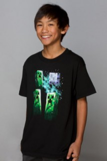 "Camiseta - MINECRAFT ""Creeper Luna""  Niño"