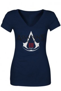 Assassins Creed IIIBlue Female Logo Shirt