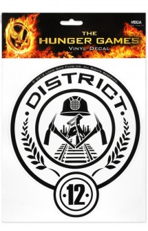 "The Hunger Games Movie ""District 12"" Laptop Decals - VINYL"