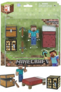 Figura - MINECRAFT: Overworld Survival Pack 7cm.