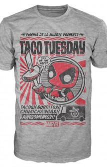 Camiseta Pop! Tees: Marvel - Deadpool Taco Tuesday
