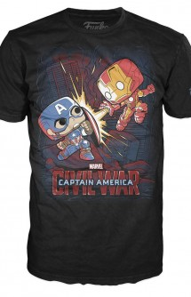 Camiseta Pop! Tees: Marvel - Civil War Fight