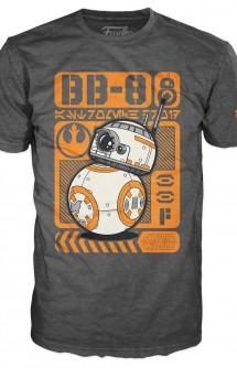 Camiseta Pop! Tees: Star Wars - BB-8 Type Poster