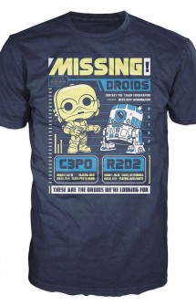 Camiseta Pop! Tees: Star Wars - C-3PO R2-D2 Poster