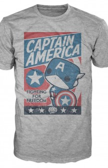 Camiseta Pop! Tees: Marvel - Capitán América