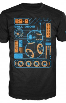 "Camiseta Pop! Tees: Star Wars - BB-8 Blueprint ""Limited Edition"""