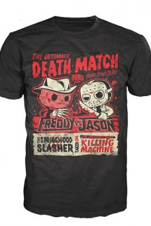Camiseta Pop! Tees: Freddy vs Jason Deatchmatch