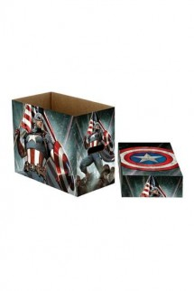 Marvel Comics - Storage Boxes Captain America Stars