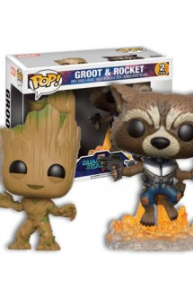 Pop! Movies: Guardianes de la Galaxia Vol. 2 - Young Groot y Rocket Blasting Pack 2