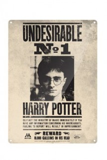 Harry Potter - Tin Sign Undesirable No. 1