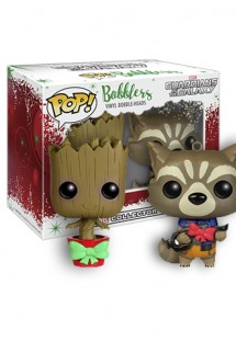 Pop! Marvel: Groot and Rocket Bobblers Hanging Christmas - Guardians of the Galaxy